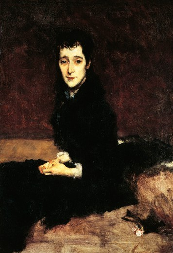 Mary Anthony, Mrs. Charles Gifford Dyer, 1880, by John Singer Sargent (1856-1925), 62x44 cm. : Stock Photo
