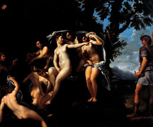 Stock Photo: 1788-46985 Diana and Actaeon, by Francesco Albani (1578-1660).