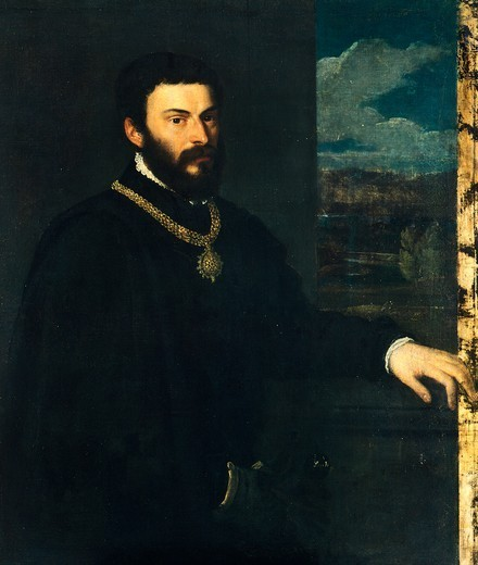 Count Antonio Porcia and Brugnega, ca 1540, by Titian (ca 1490-1576). : Stock Photo