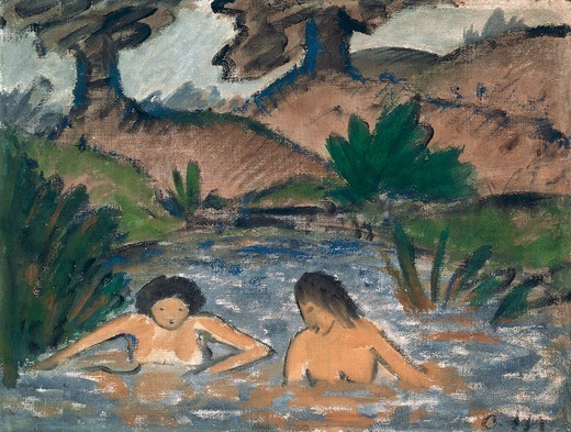 Bathers, by Otto Muller (1874-1930). : Stock Photo