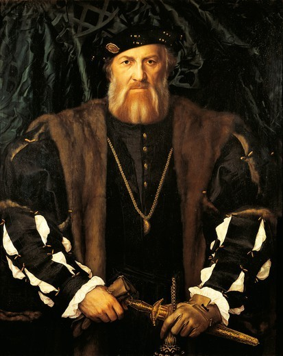 Stock Photo: 1788-47067 Portrait of Charles de Solier, Sieur de Morette (Lord of Morette), 1534-1535, by Hans Holbein the Younger (1497 or 1498-1543).