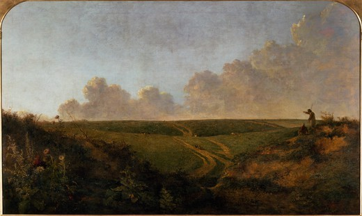 Stock Photo: 1788-47284 Mousehold Heath, near Norwich, 1818-1820, by John Crome (1768-1821), oil on canvas, 110x181 cm.