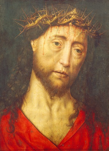 Head of Christ crowned with thorns, by Dieric Bouts the Elder (ca 1415-1475). : Stock Photo