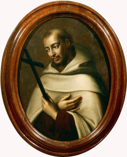 Stock Photo: 1788-47518 Portrait of St John of the Cross (Fontiveros, 1542-Ubeda, 1591), born Juan de Yepes Alvarez, a Carmelite priest and founder of the Discalced Carmelites, by an unknown artiSt Spain, 17th century.