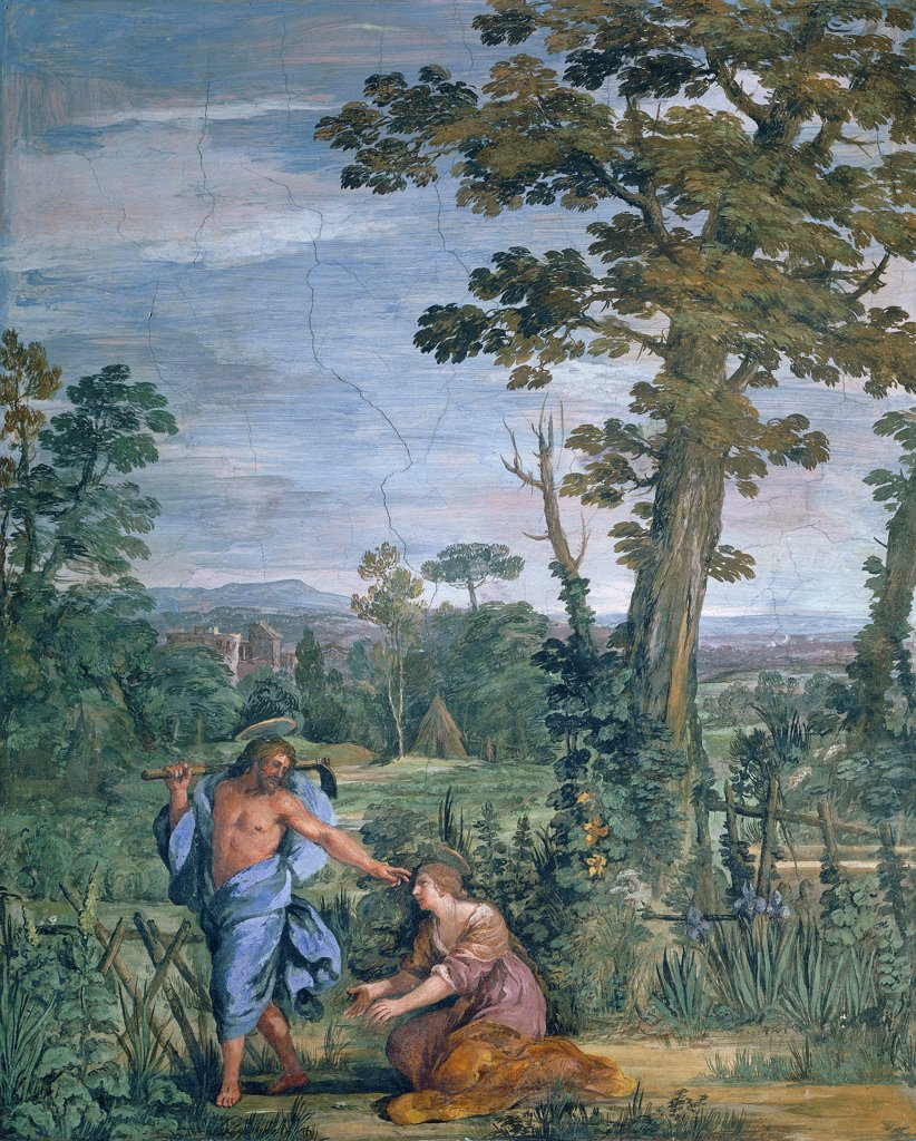 Stock Photo: 1788-47565 Noli Me Tangere (Don't Touch Me), 1621-1630, by Pietro da Cortona (1596-1669), fresco. Villa Sacchetti, Castelfusano.