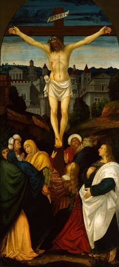 Stock Photo: 1788-47690 The Crucifixion, by Gerolamo Giovenone (1486 or 1487-1555).