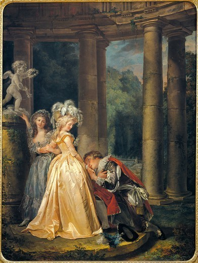 Stock Photo: 1788-47722 An oath to love, 1786, by Louis Rolland Trinquesse (1746-1800), oil on canvas, 131x98 cm.