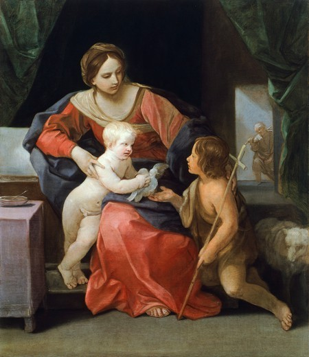 Stock Photo: 1788-47752 Madonna and Child with Infant St John, 1640-1642, by Guido Reni (1575-1642).