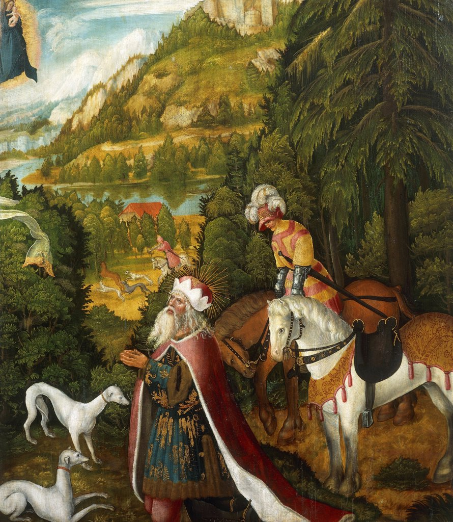 The Virgin appearing to King Leopold III of Babenberg, by Albrecht Altdorfer (1480-1538). : Stock Photo