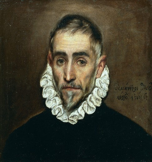 Stock Photo: 1788-47992 Portrait of a gentleman, by El Greco (1541-1614).