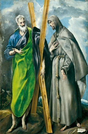 Stock Photo: 1788-47994 Saint Andrew and Saint Francis, by El Greco (1541-1614).