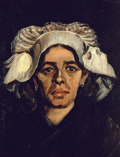 Stock Photo: 1788-48090 The woman, portrait of Gordina de Groot, 1885, by Vincent van Gogh (1853-1890), oil on canvas, 41x34.5 cm.