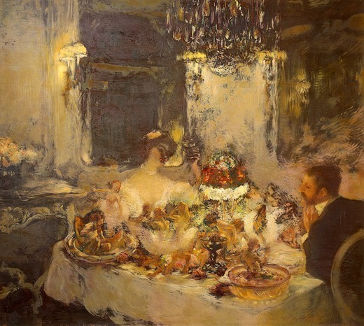 Stock Photo: 1788-48169 Champagne, by Gaston La Touche (1851-1913), oil on canvas.