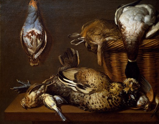 Stock Photo: 1788-48172 Still life with game, 1671, by Francois Mather.