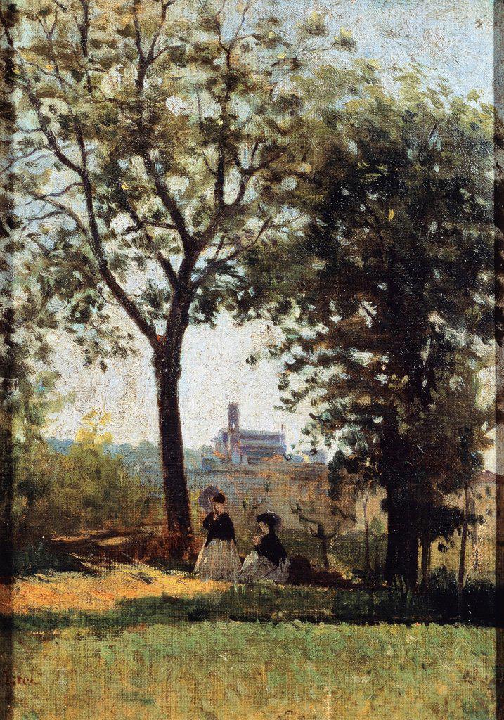 Stock Photo: 1788-48477 Monte alle Croci, by Silvestro Lega (1826-1895).