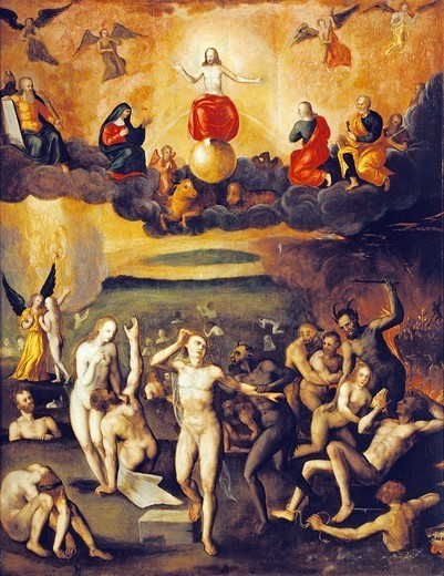 Stock Photo: 1788-48494 Last Judgment, attributed to Crispin van den Broeck (1523-between 1589 and 1591).
