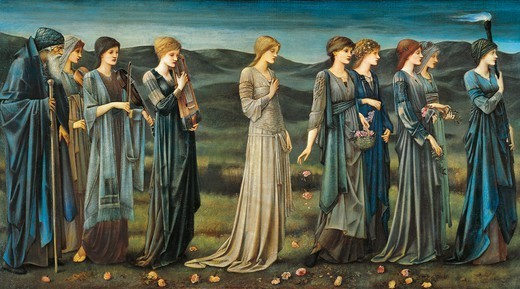 Stock Photo: 1788-48596 The Wedding of Psyche, 1895, by Edward Burne-Jones (1833-1898).