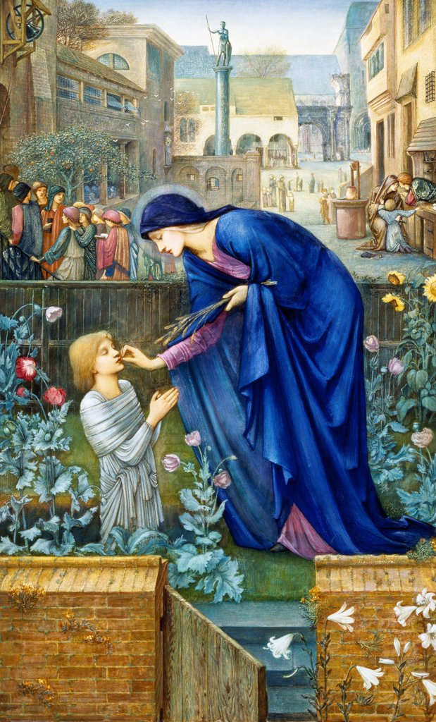 The prioress's tale, by Edward Burne-Jones (1833-1898). : Stock Photo