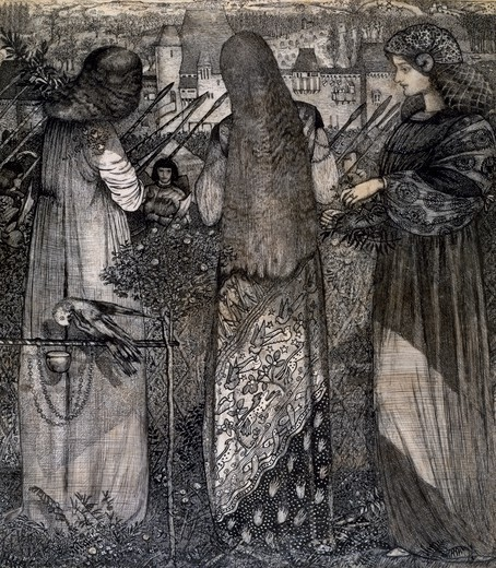 Going to the Battle, 1858, by Edward Burne-Jones (1833-1898). : Stock Photo