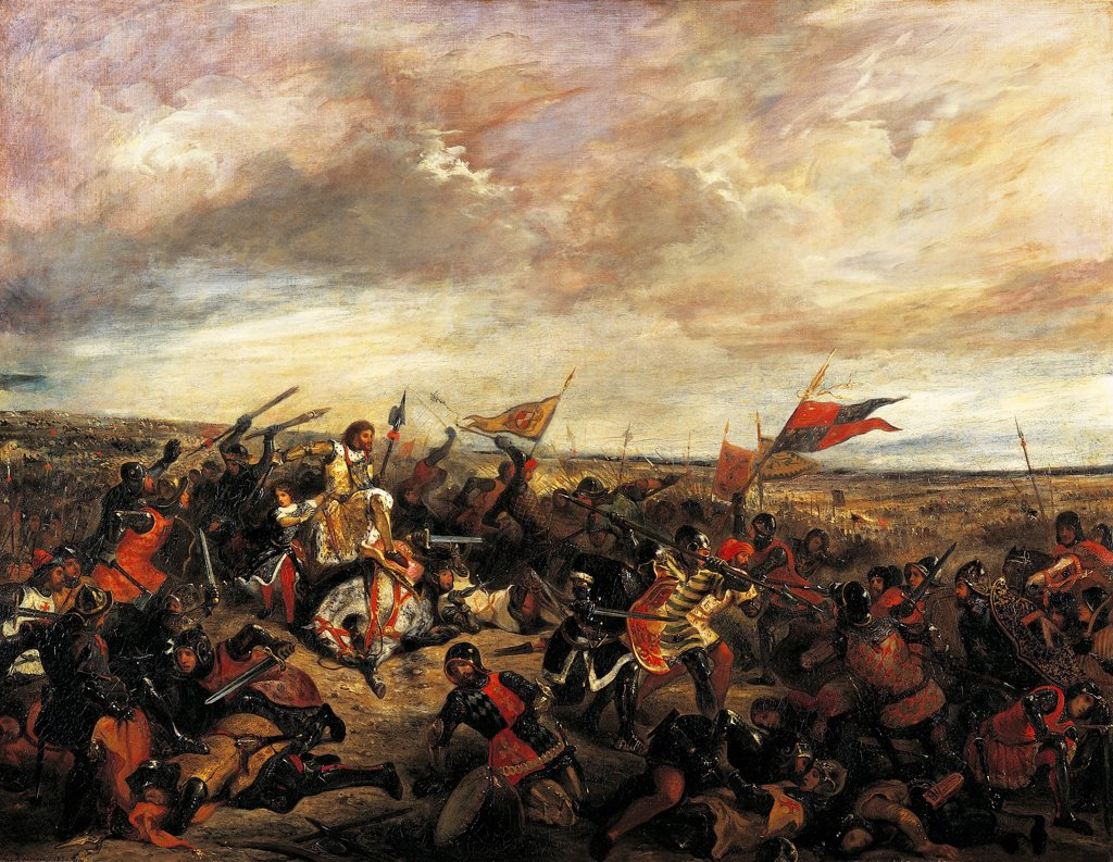 The Battle of Poitiers, by Eugene Delacroix (1798-1863). : Stock Photo