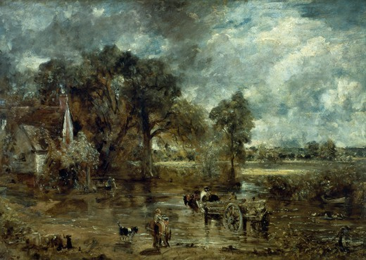 The hay cart, by John Constable (1776-1837). : Stock Photo