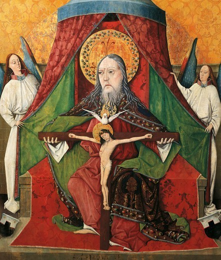The Trinity, 1471, by Mester. : Stock Photo