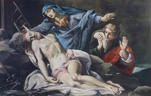 Pieta, by Antonio Crespi (1712-1781). : Stock Photo