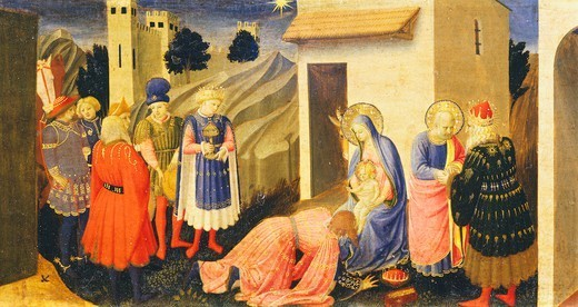 Stock Photo: 1788-48810 Predella depicting the Adoration of the Magi, detail from the Annunciation of Cortona, ca 1430, by Giovanni da Fiesole known as Fra Angelico (1400-ca 1455), tempera on wood, 175x180 cm.