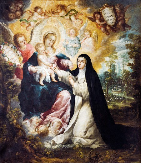 Stock Photo: 1788-48815 Mystic Marriage of Saint Rose of Lima, 18th century, by Nicolas Correa.