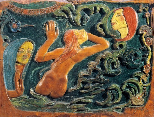 Stock Photo: 1788-48938 Be mysterious, 1890, by Paul Gauguin (1848-1903).