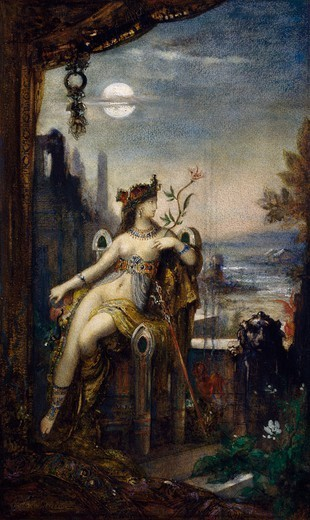 Stock Photo: 1788-49235 Cleopatra, 1887, watercolor by Gustave Moreau (1826-1898).