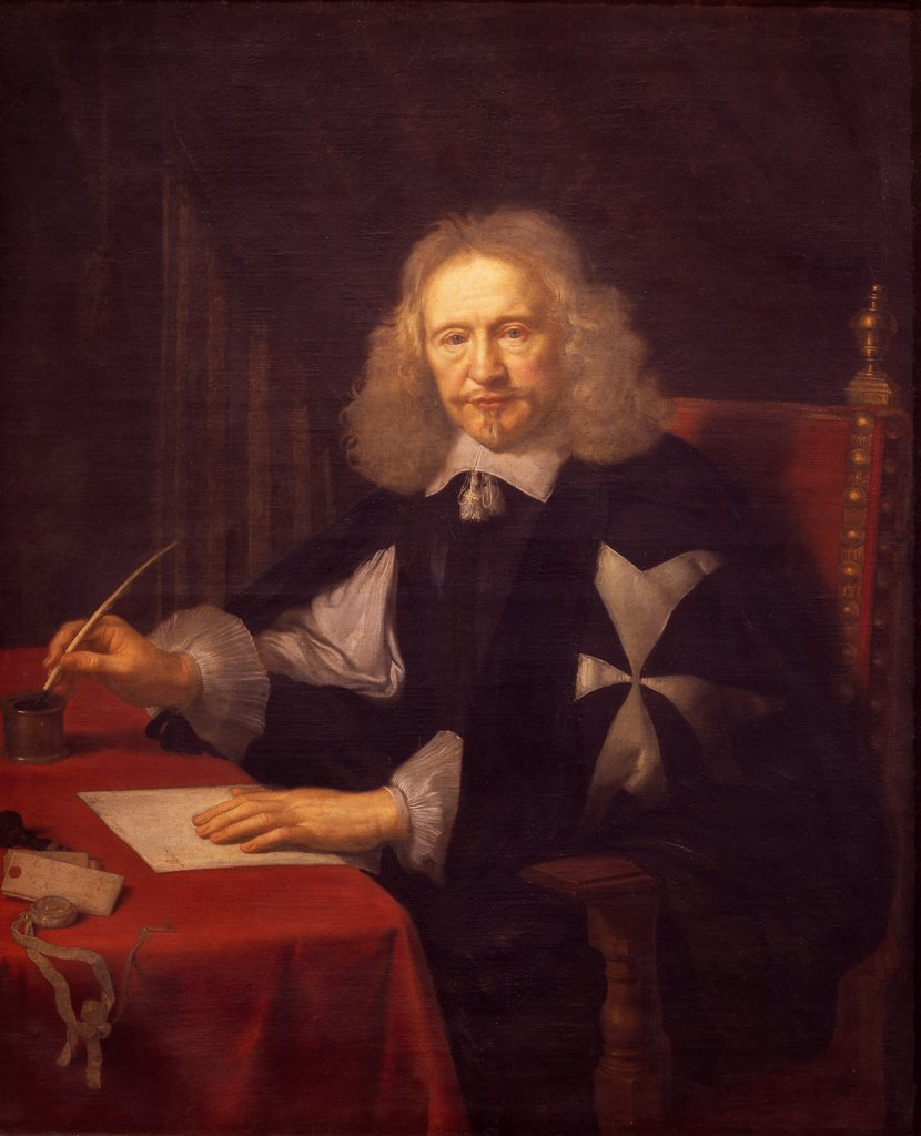 Stock Photo: 1788-49362 Portrait of Jean Jacques II de Cordon d'Evieu, by Pierre Mignard I (1612-1695).