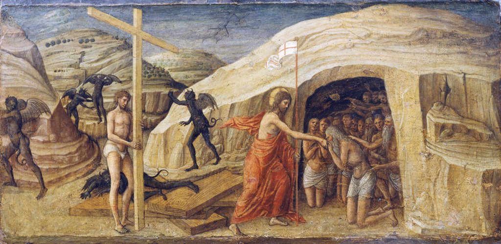 Stock Photo: 1788-49506 Descent of Christ into Limbo, ca 1460, by Jacopo Bellini (1400-1470, or ca 1471), 28.5x58 cm.