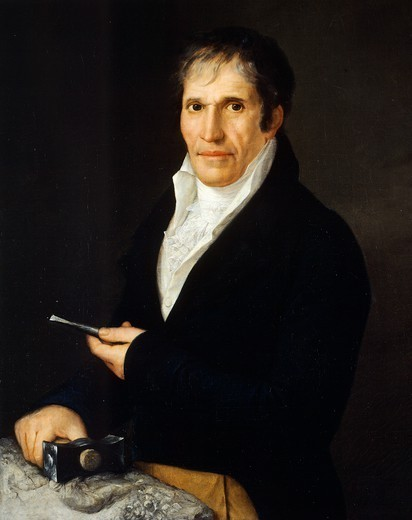 Stock Photo: 1788-49706 Portrait of the sculptor, Bartolomeo Carrea, by Rosa Bacigalupo Carrera (1794-ca 1854).
