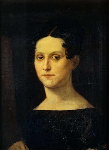 Self-portrait, by Rosa Bacigalupo Carrera (1794-ca 1854). : Stock Photo