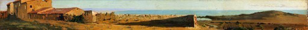 Stock Photo: 1788-49809 View of Castiglioncello, 1863-1868, by Giuseppe Abbati (1836-1868), oil on panel.