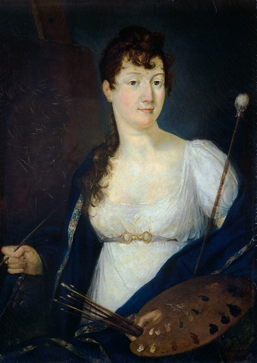 Stock Photo: 1788-49934 Self-portrait, by Antonietta Costa Galera (1777-1859).
