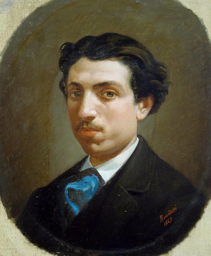 Self-portrait, 19th century, by Francesco Saverio Benedetti. : Stock Photo