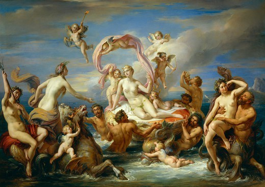 Stock Photo: 1788-50079 The Triumph of Venus, 1833, Francis Podesti (1800-1895). Detail.