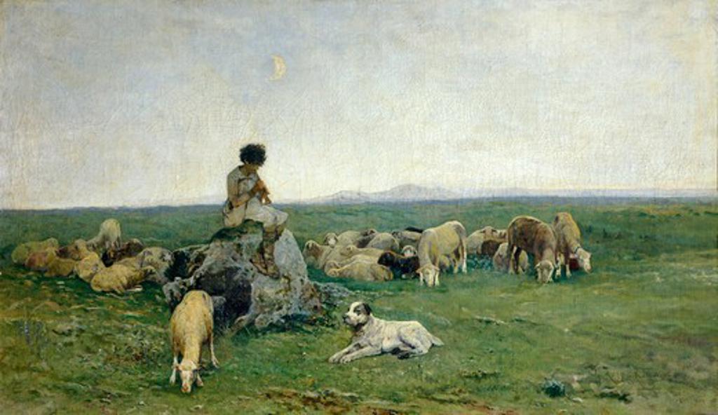 Stock Photo: 1788-50137 Idillius, by Giuseppe Raggio (1823-1916).