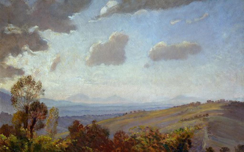 A sky, by Napoleone Parisani (1854-1932). : Stock Photo