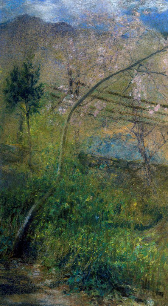 Spring, by Augusto Corelli (1853-1910). : Stock Photo
