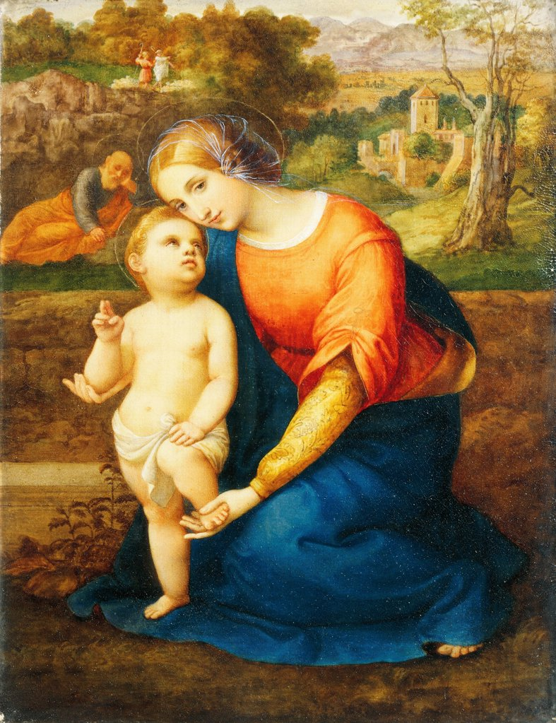 Stock Photo: 1788-50312 Madonna and Child, by Antonio Bianchini (1803-1884).