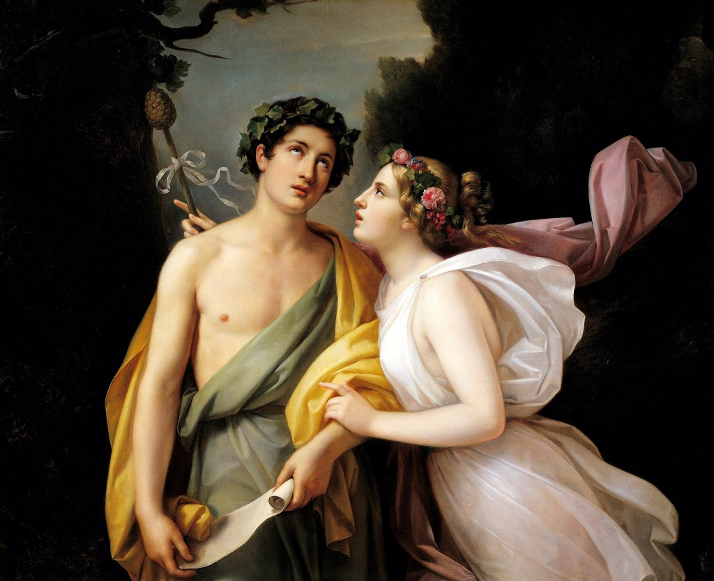 Bacchus and Ariadne, by Nicola Carta. : Stock Photo