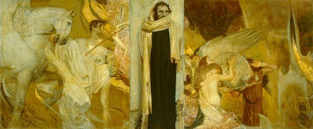 Resurrection, 1911, by Giulio Bargellini (1875-1936). : Stock Photo