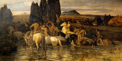Stock Photo: 1788-50350 The Centaurs, 1895, by Enrico Coleman (1846-1911).