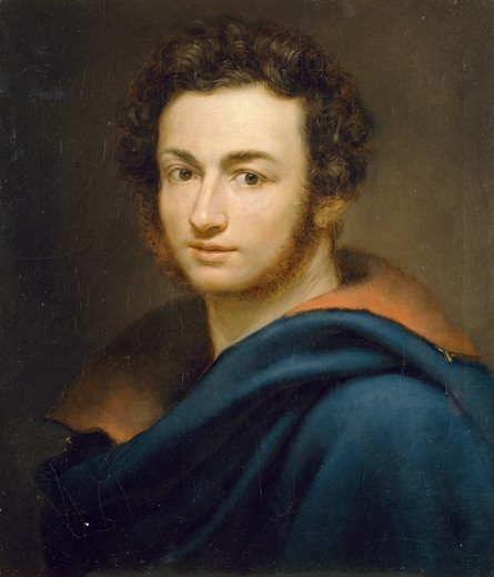 Stock Photo: 1788-50402 Self-Portrait, by Guiseppe Fontana (1795-1845), oil on canvas, 52x44.7 cm.