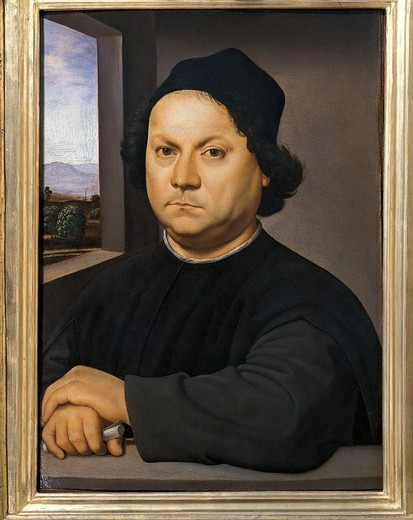 Stock Photo: 1788-50551 Portrait of Perugino, ca 1480-1523, by Raphael Sanzio (1483-1520).