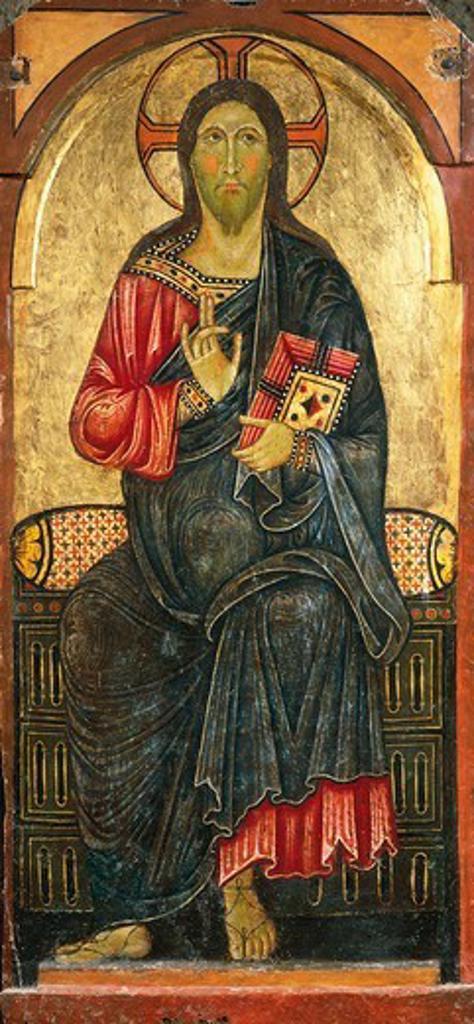 Stock Photo: 1788-50583 Redemptive blessing, 12th-13th century, Romanesque art, Church of Santa Maria Maggiore, Civita Castellana, Italy.
