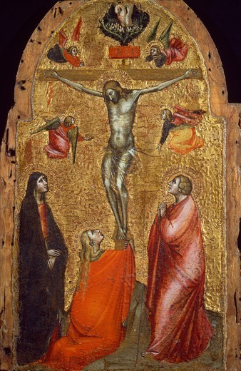 Stock Photo: 1788-51079 Crucifixion, by Niccolo di Pietro Gerini (died ca 1415-1416), panel.